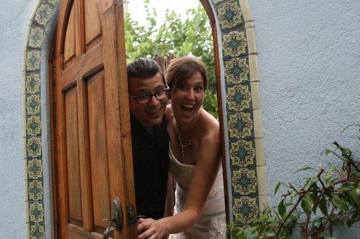 Neil & Emily, newly-weds! (photo credit : Emily Carlson)