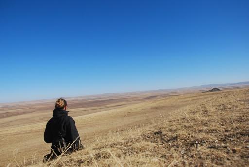 endless steppes near Kharkhorin