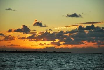 sunset Progreso, Mexico