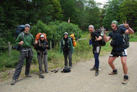 Cabo Froward hiking team : Rich, Claudia, Stephanie, Cham & Paul (2janv12)