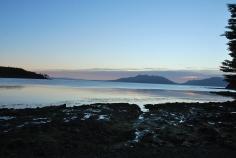 sunset at Bahía del Aguila