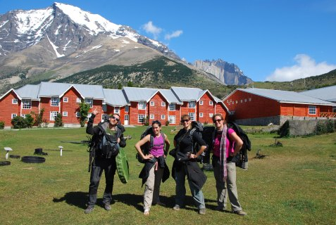End of the hike at Hosteria Las Torres
