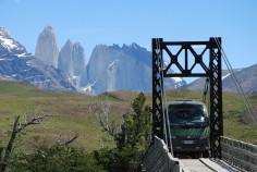 pretty tight bridge crossing : all passengers off!