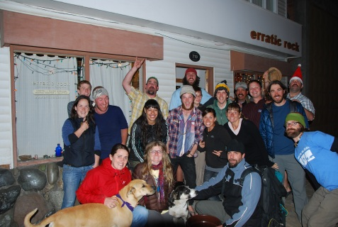 Team and Guests on Christmas Eve