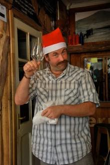 Santa Bill and his wine glass from Santa Juls