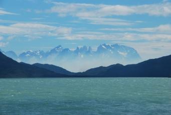 smoke in Torres del Paine from the boat in Última Esperanza Fjord (29dec11)
