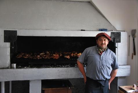 parilla patagonica at Estancia Perales