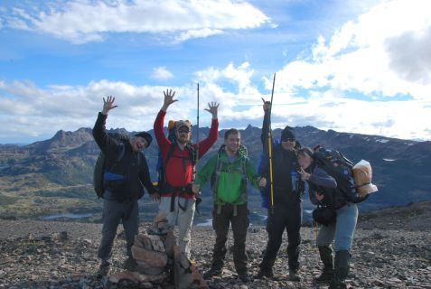 Dientes de Navarino trekking team : Matthias, Sebastian, Jonathan, Cornelius & J. (8feb12)
