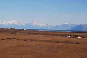 on the road to El Calafate