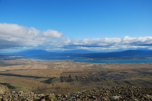 View of Puerto Natales from the top