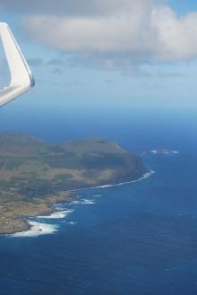 flying over Rapa Nui
