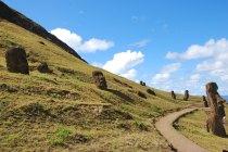 Rano Raraku : Raraku Volcano where Moais were carved
