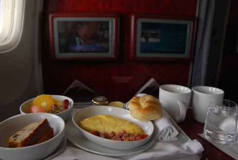 first class breakfast! (3May12)