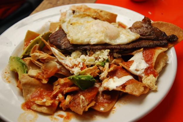 Alebrije chilaquiles, San Cris, Mexico