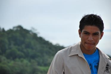 man in Belize - July 2012