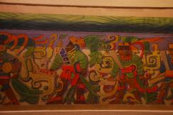mural reproduction, Gran Museo Maya, Mexico
