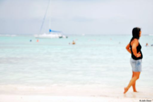akumal beach, bokeh