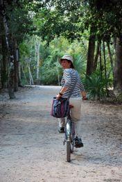 Biking around Coba