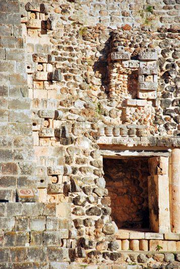 detail of Pyramid of Magician, Uxmal, Mexico