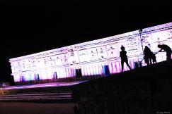 light and sound show, Uxmal, Mexico