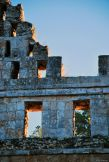 detail of the Temple of the Doves, Uxmal, Mexico
