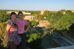 overlooking the city, Uxmal, Mexico
