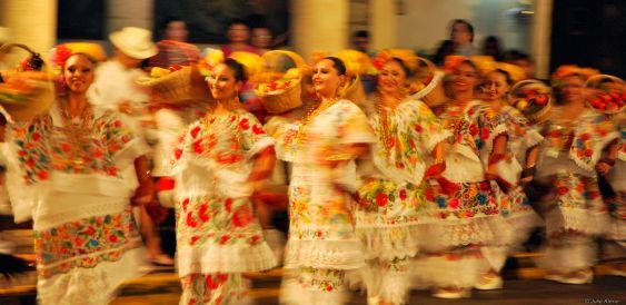 September : folklore dances in Merida, Mexico