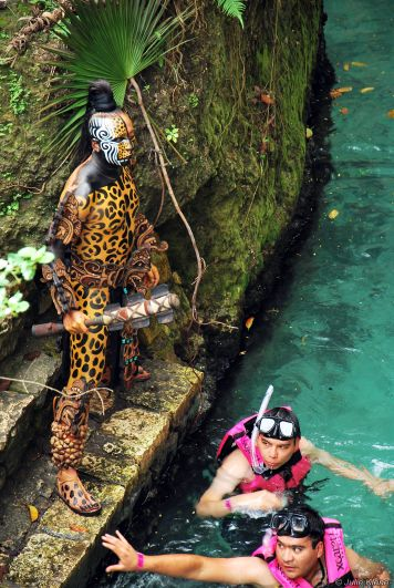 surprise in hidden rivers, Xcaret, Playa del Carmen, Mexico