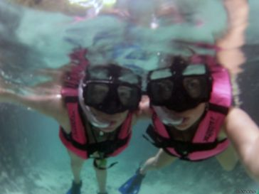 snorkeling the hidden rivers, Xcaret, Playa del Carmen, Mexico