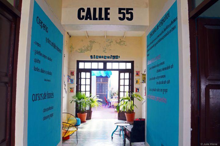 Calle 55 crêperie entrance, Merida, Mexico