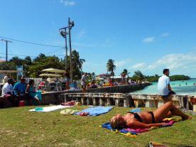 sunbathing Belize