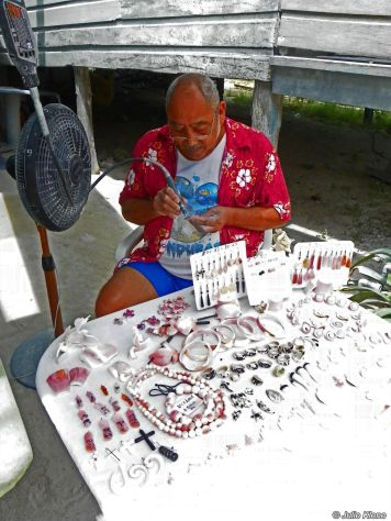 shell carving Belize