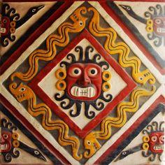 red mural, Peru
