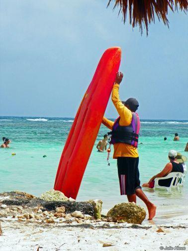kayaking Mahahual, Mexico