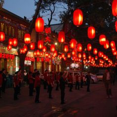 red lanterns, China