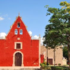 red church, Mexico