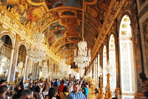 Mirror Gallery in Versailles, France