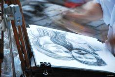 artist in Montmartre, France