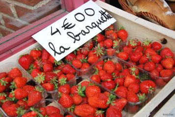 local strawberries, France