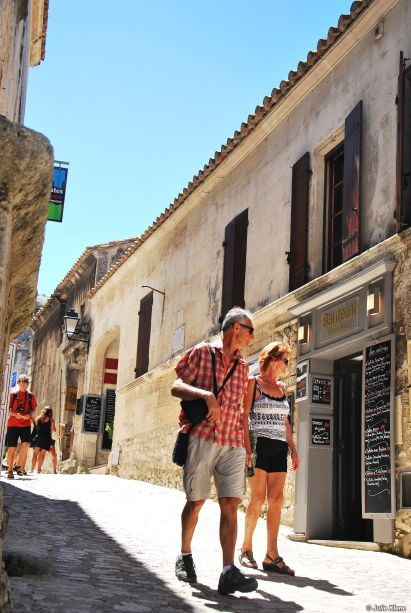 street in Baux de Provence, France