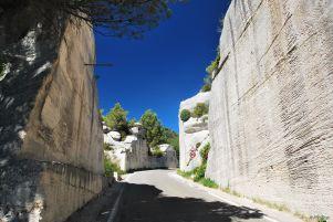 quarries in light quarries in Baux de Provence, France
