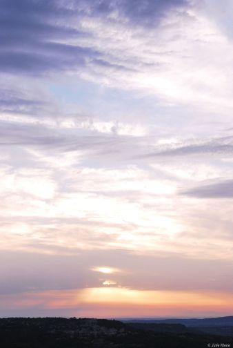 sunset Bonnieux, France