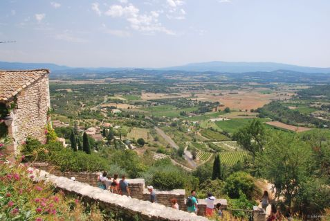 view in Gordes, France