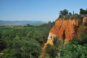 Ocres in Roussillon, France