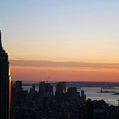 ESB from Top of the Rock, NYC, USA