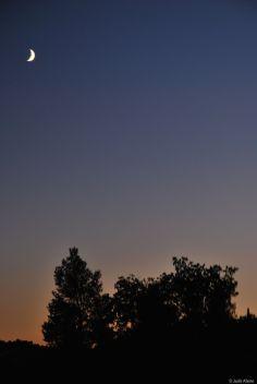 twilight at Sainte-Victoire mountain, France