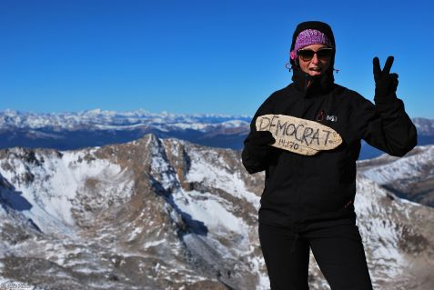 top of Mt Democrat, 14.170 ft (4.319m), CO, USA