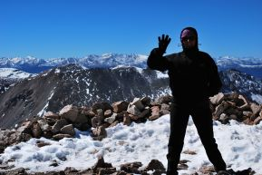 top of Mt Bross 14.172 ft (4.319m), CO, USA