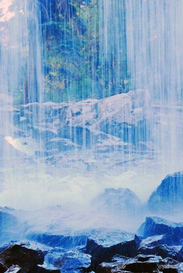 behind the falls at Hanging Lake, CO, USA