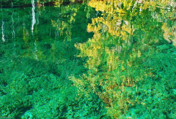 reflections at Hanging Lake, CO, USA